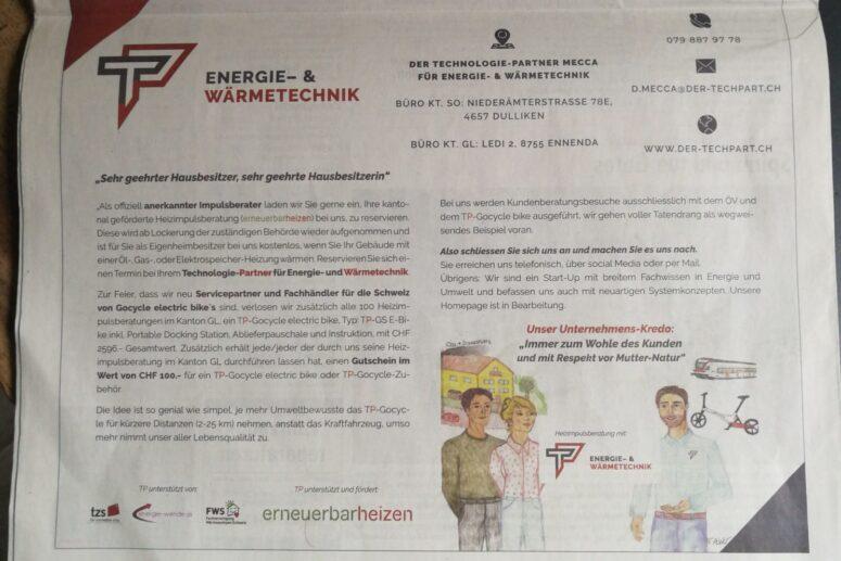 Der Technologie-Partner in der Fridolin Zeitung!